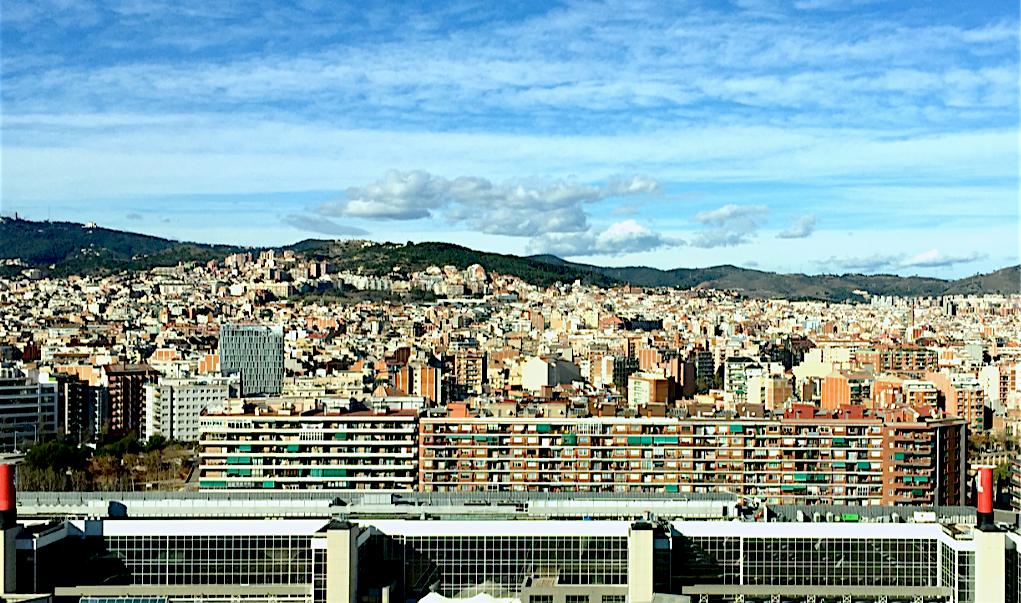 Barcelona desde la Diagonal (Pueblo Nuevo)