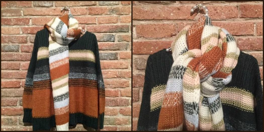 Jersey y bufanda de Marella