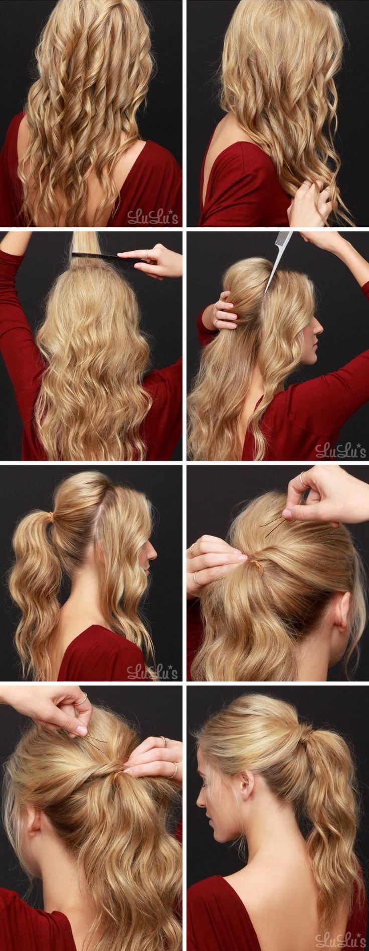 tirabuzones en todo el cabello con unas tenacillas 2 desliza los dedos entre los rizos para deshacerlos un poco y romper con la seriedad del peinado - Peinados Con Tenacillas
