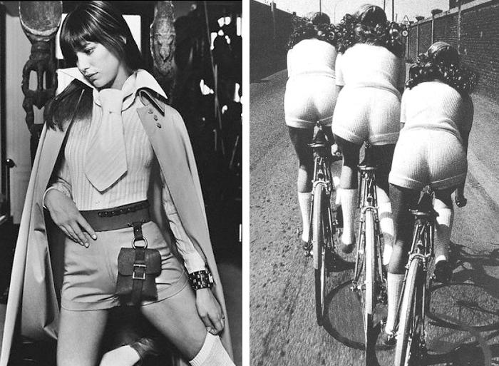 Jane Birkin y chicas en bicicleta