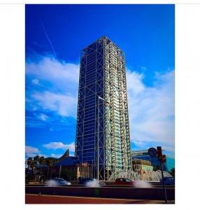 El edificio del hotelarts majestuoso en su arquitectura protagonista dehellip