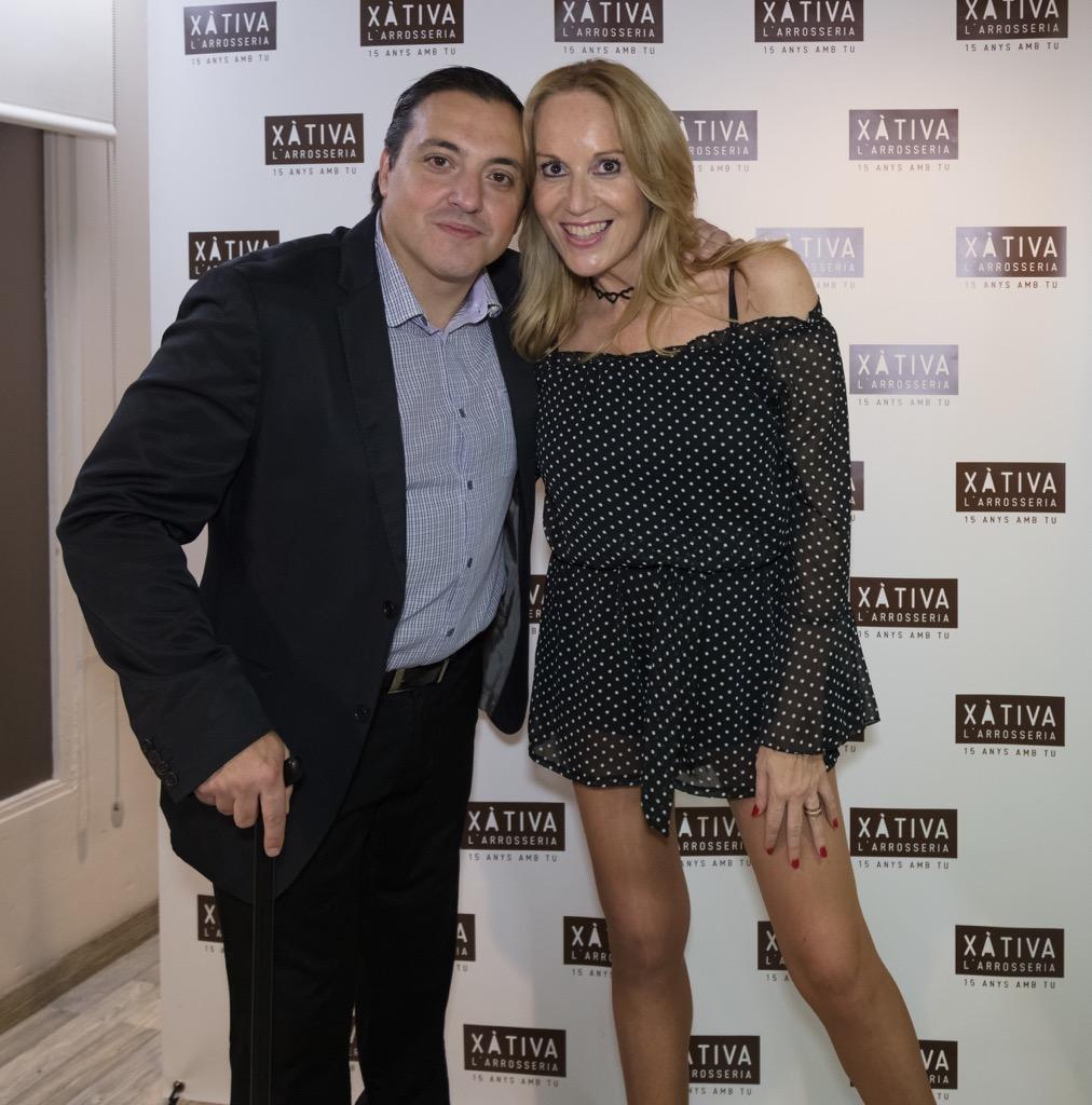 Alex Lopez y Victoria Garcia (directora de comunicación de Xátiva Grup)