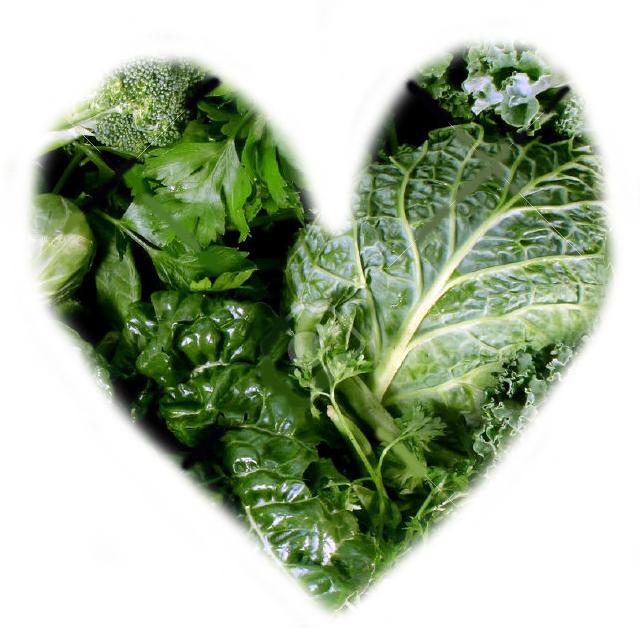verduras verdes oscuras