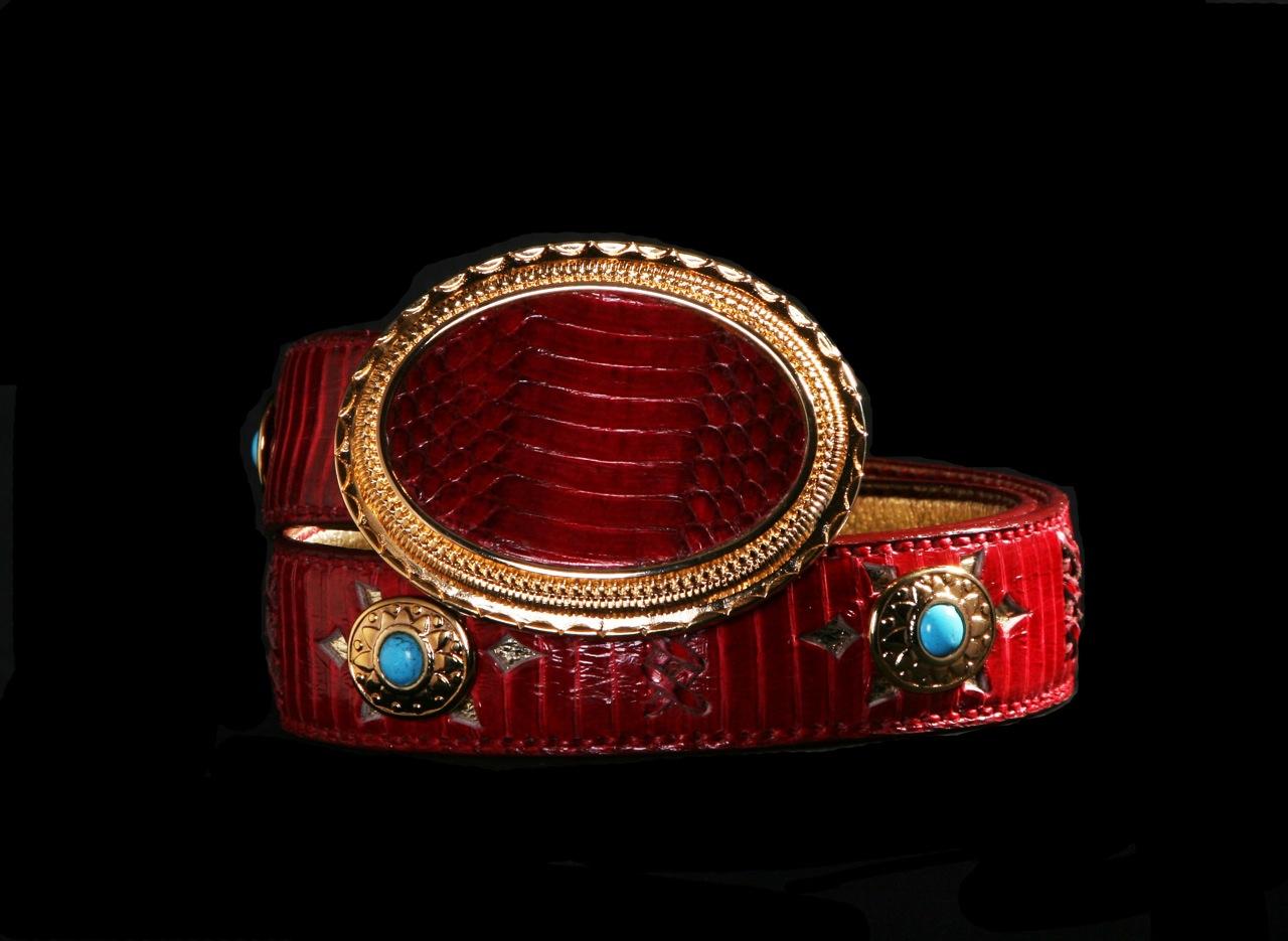 cobra rojo liso top belt capazonia rockinchic