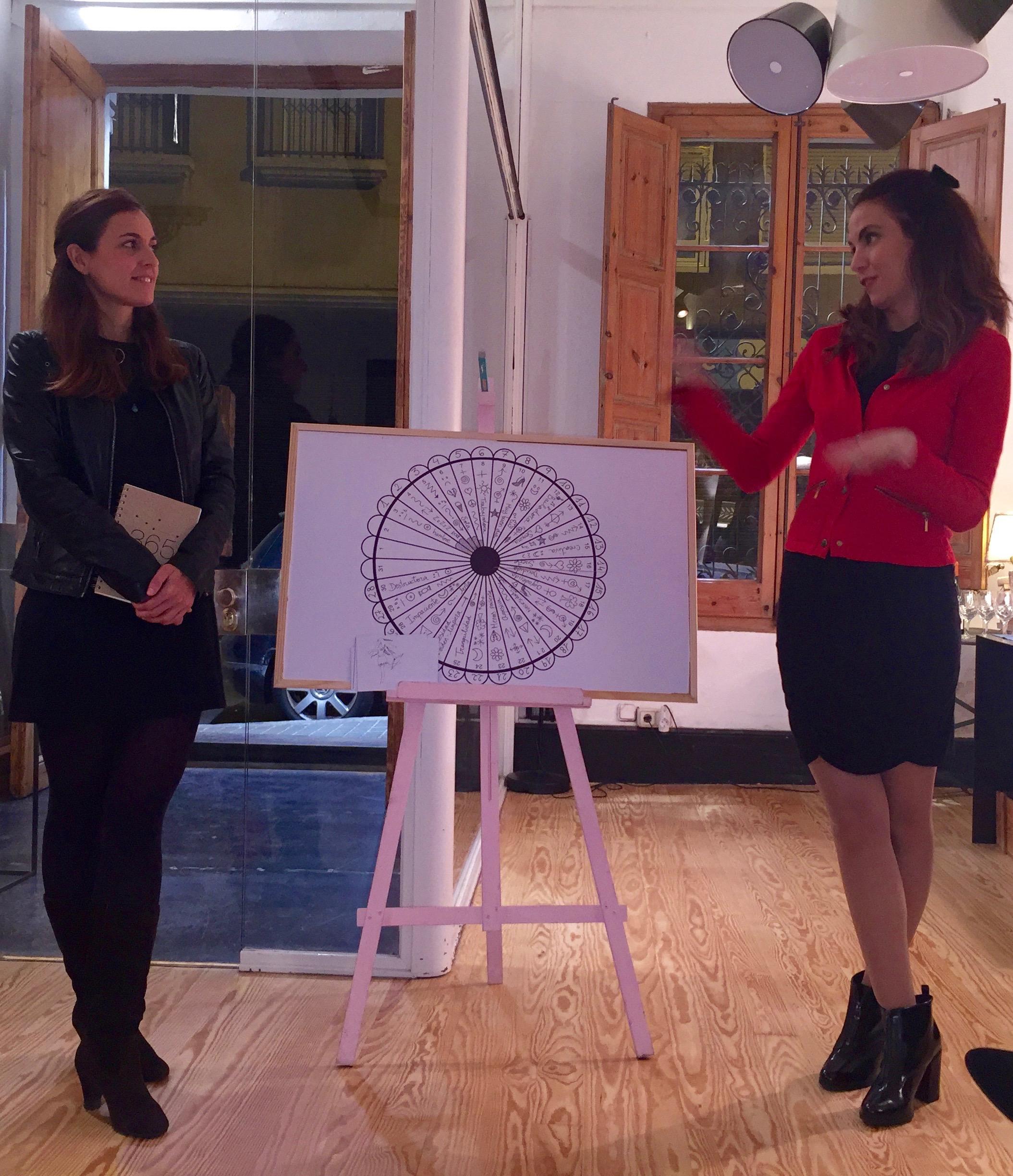 Cristina Gascón y Julia Almagro durante la presentación