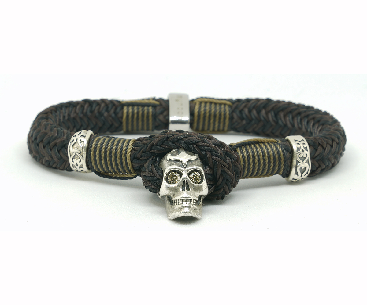 Simbad Brown Coñac Diamond Skull